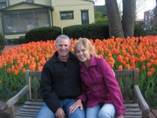 Chuck and Debbie with Tulips