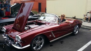Debra Clopton in 62 Corvette