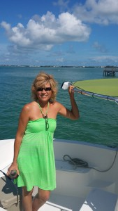 Debra in green in the Keys