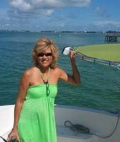 Debra in green in the Keys